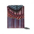 Cartera apache en color coral y turquesa