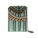 Cartera apache en color verde y mostaza