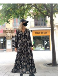 Vestido Largo Snake Negro