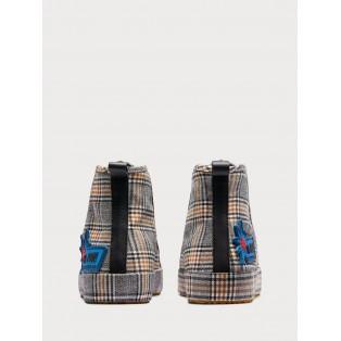 Melli - Zapatillas deportivas de cuadros