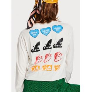 Camiseta cropped con motivo gráfico