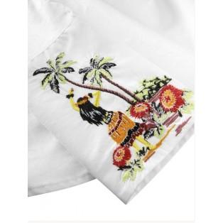 Camisa Scotch&Soda con bordado en el puño White