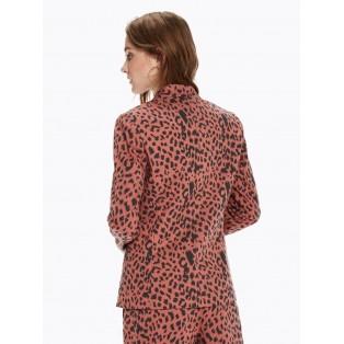 Americana con estampado de leopardo Fondo de Armario
