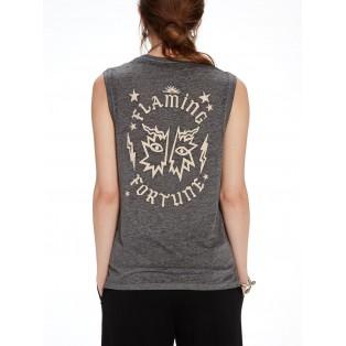 Camiseta de tirantes con efecto dévoré