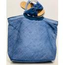Bolso Piel Azul