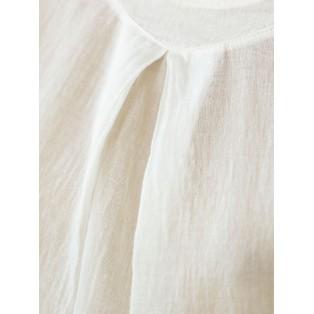 Camiseta Intropia oversize de algodón Marfil