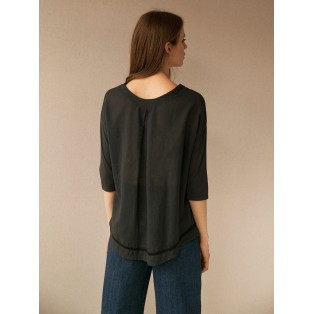 Camiseta Intropia oversize de algodón Carbón