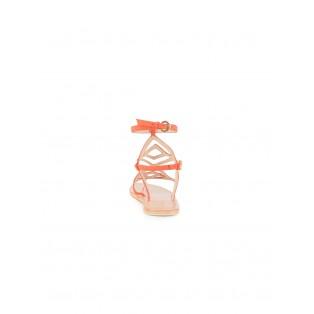Sandalia INTROPIA tiras geométricas de piel