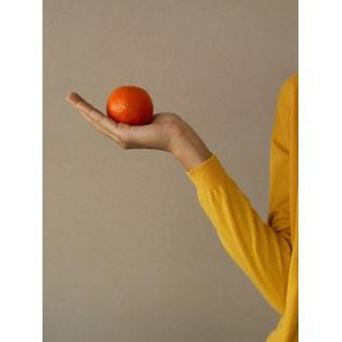 Chaqueta intropia larga de punto cruzada Mango