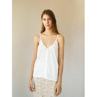 Camiseta INTROPIA tirantes de algodón Marfil