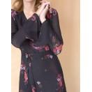Maxi vestido paisley de seda y lana Intropia