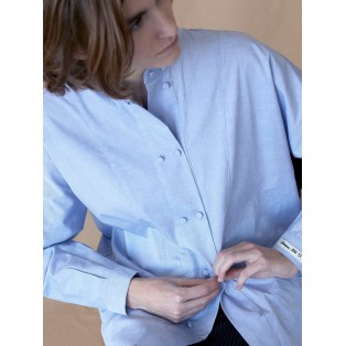 Camisa doble botonadura de algodón Intropia