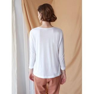 Camiseta maxi-bolsillos algodón y lana Intropia
