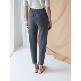 Pantalón baggy de punto gris oscuro Intropia