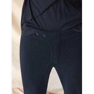 Pantalón baggy de punto Intropia Negro