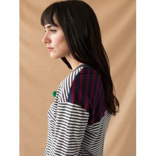 Camiseta rayas combinadas fina Intropia