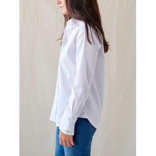 Camisa clásica de algodón BLANCO Intropia