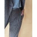 Pantalón cuadros lana virgen AZUL Intropia