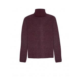 Jersey cuello vuelto lana merino Intropia CIRUELA