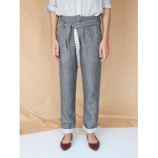 Pantalón relax-fit espiga de algodón Intropia