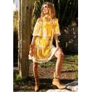 Vestido Corto de grandes flores amarillas