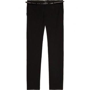 Pantalones entallados elásticos negro