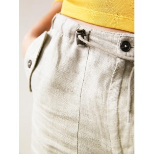 Pantalón relax-fit de lino Intropia