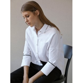 Camisa vivos de algodón Intropia Blanco