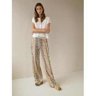 Pantalón estampado efecto rayas Intropia