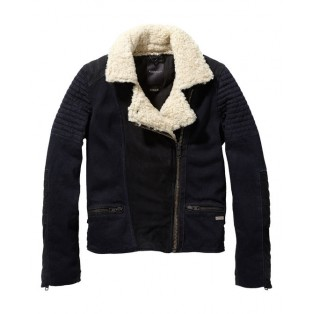 Chaqueta scotch-soda con cuello de borrego