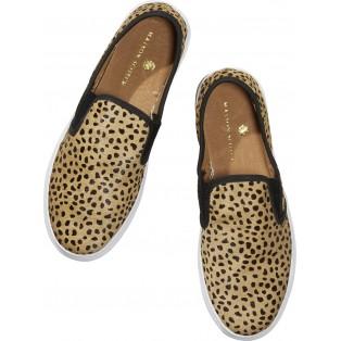 Zapatos con estampado animal maison scotch