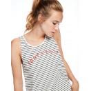 Camiseta de tirantes de aire francés