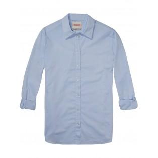 Camisa con boyfriend fit Azul