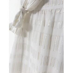 Falda midi seda y fibra metálica Intropia