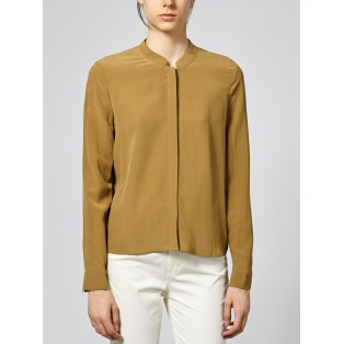 Blusa cuello tirilla de seda Intropia