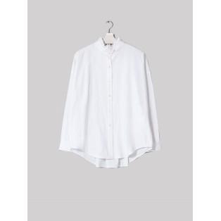 Camisa algodón cuello victoriano Blanca Intropia